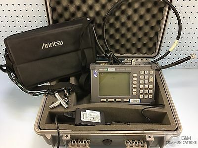 Anritsu S331B Site Master Cable Antenna Analyzer W/ Rf Cable Ac Adapter Hardcase