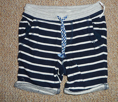☆ H&m Baby Boys Stripey Stripe Nautical Navy Shorts 9-12 Months ☆