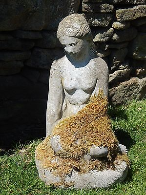 Vintage Stone Garden Statue    'Mermaid'   Beautiful item