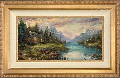 Thomas Kinkade Studios Father's Perfect Day 12 x 24 Limited Edition S/N Canvas