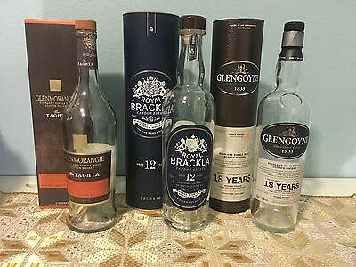 Empty Single Malt Scotch Whisky Bottles