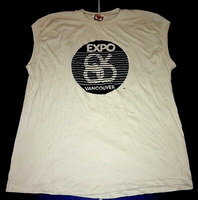 Vintage 1986 Vancouver Expo XL Sleeveless Worlds Fair