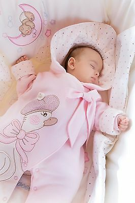 Baby girl newborn snowsuit all in one Pink Duck in pink 0-3 3-6 6-9