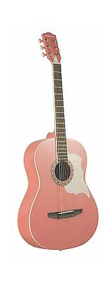 Johnson JG-100-PK Student Acoustic Guitar Pink