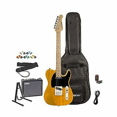 Sawtooth ES Series Electric Guitar Kit with Sawtooth 10 Watt Amp & ChromaCast...