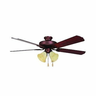 Yosemite Home Decor WESTFIELD-BB-4 52-Inch Ceiling Fan with Light Kit and Elm...