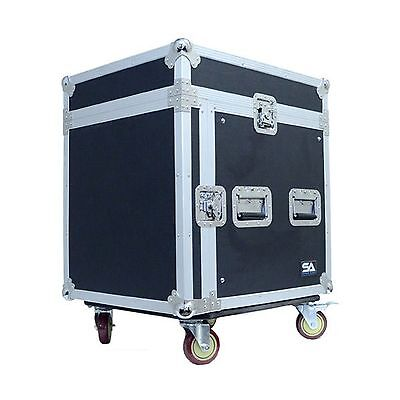 Seismic Audio-SAMRC-10U-10 Space Rack Case with Slant Mixer Top and Casters-P...