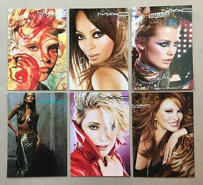 Lot 10 MAC Cosmetic Advertising Cards 5 x 7 Ross Welch Deneuve + More NEW!