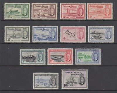TURKS & CAICOS IS. 1950 KGVI FULL DEFIN SET MINT (x13) (ID:896/D45858)