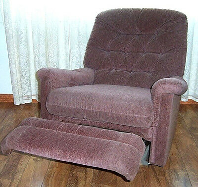 PRETTY  MAUVE RECLINER Stratolounger Wall Hugger -  3' square when closed