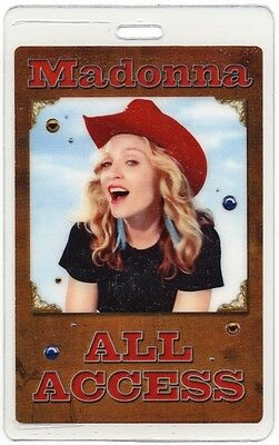 Madonna authentic 2000 concert Laminated Backstage Pass Don't Tell Me Tour AA