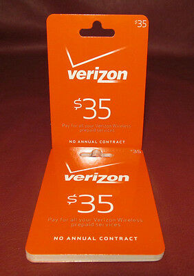 Lot of 12, verizon $35 Refill Hanging Gift Cards New Unused NO $$ MONETARY VALUE