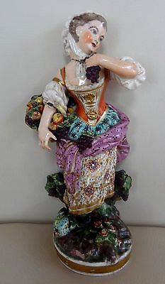 """Early 7"""" Derby Porcelain Figure Model Number 123 - Beautiful Colours"""