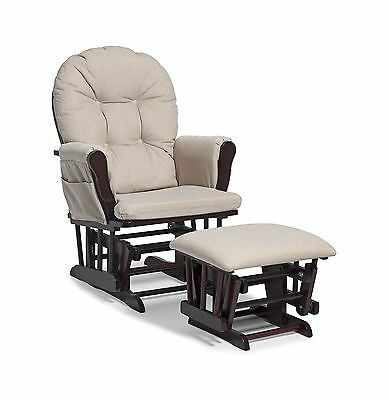 Storkcraft Hoop Glider and Ottoman Set Cherry/Beige