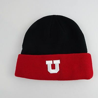f04a84ffb7b RED WHITE BLACK UTAH UTES adjustable dad hat cap by Top of the World ...
