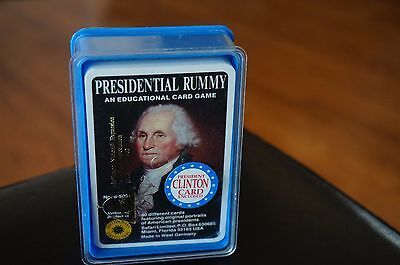 GAME Cards PRESIDENTIAL Rummy VINTAGE Smithsonian INSTITUTE Educational HISTORY