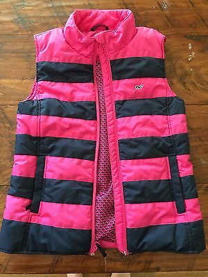 Girls' Vineyard Vines Down Vest, Size L (14)