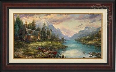 Thomas Kinkade Studios Father's Perfect Day 18 x 36 LE S/N Framed Canvas