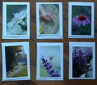 Beautiful PhotoCard - Flowers and Misc - set of 6