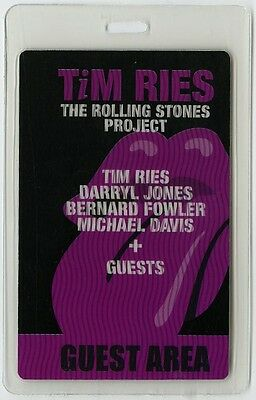 Tim Ries authentic 2010 tour Laminated Backstage Pass Rolling Stones Project