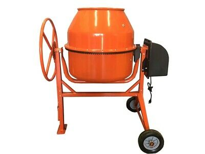 8.83 Cubic Feet Electric Cement Concrete Stucco Mixer New Heavy Duty 1 3/8 HP