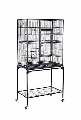 HomCom 63-inch Metal Bird Cage Wire Parrot Decorative House w/ Tray Removable