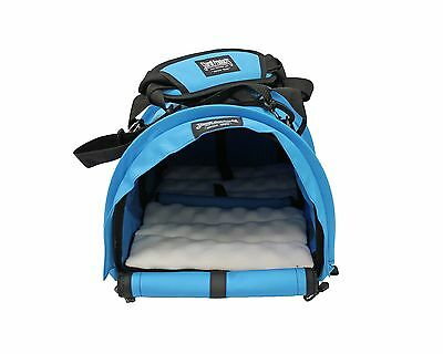 Sturdi Products Bag Double Sided Divided Pet Carrier Large Blue Jay