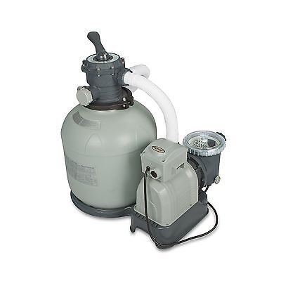 Intex Krystal Clear Sand Filter Pump for Above Ground Pools 3000 GPH Pump Flo...