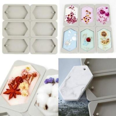 Silicone Aromatherapy Wax Tablet Mould Dried Flower Wax Mold Ornaments 6Cavity S
