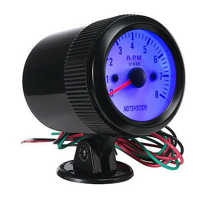 "2"" 52mm Car Motor Tacho Meter 8000 RPM Indicator Pointer Tachometer Gauge AU NSW"