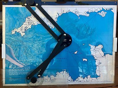 Vintage Portland Plotting Board RARE Nautical Chart Blundell Harling Maritime
