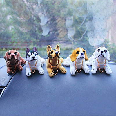 Shaking Head Nodding Lovely Spotty Dog Car Interior Doll Ornament Decoration