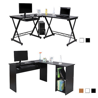 Corner Office Computer Desk Gaming Home Study Table Workstation Furniture