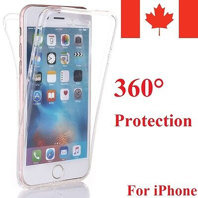 Shockproof Rubber Clear Full 360 Protective Case Cover for Apple iPhone 6 7 Plus