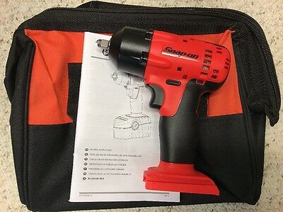 "Snap On•CT4418•Cordless Impact Wrench•3/8"" Drive 18Volt•Tool Only, With Bag•NEW!"