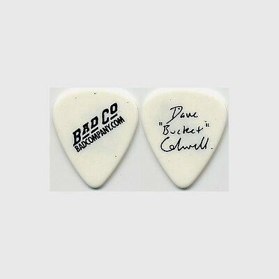 Bad Company Dave Bucket Colwell authentic stage 2002 tour signature Guitar Pick
