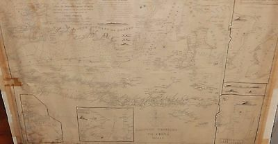 Rare James Horsburgh Plan Of Allass Strait Sheet 1 Original Chart Map Dated 1824