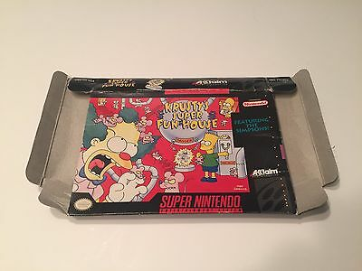 Krusty's Super Fun House Super Nintendo BOX ONLY - Snes -