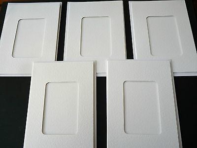 White Tri-Fold Cards with Small Rectangle Cut Out