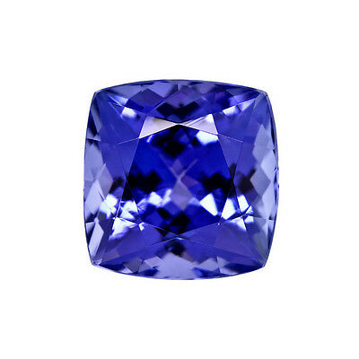 Cushion Cut Shape Deep Blue AAA Tanzanite 7mm 1.85 Carat Loose Gem Stone