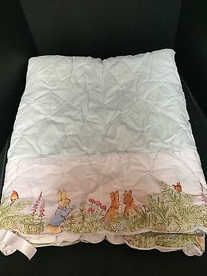 Pottery Barn Kids Peter Rabbit Beatrix Potter Crib QUILT Baby Toddler EASTER PrO