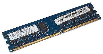 Nanya NT2GT64U8HD0BY-AD PC2-6400U-666 2GB 2Rx8 DDR2 RAM Memory 800MHz CL6