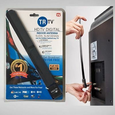 New Clear TV Key HDTV FREE TV Digital Indoor Antenna Ditch Cable As Seen on TV#S