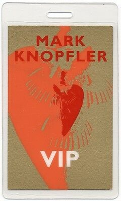 Mark Knopfler 1996 Laminated Backstage Pass Golden Heart Tour Dire Straits VIP