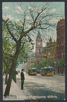 Melbourne: Collins Street with Trams