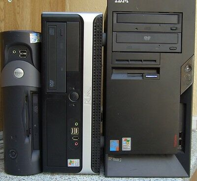 Pc Joblot 3 Working Computers Spares Or Repair