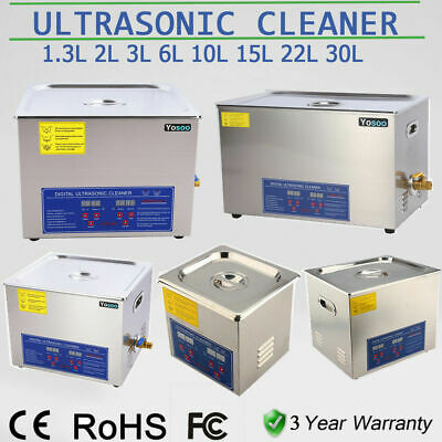 Digital Stainless Ultrasonic Cleaner Ultra Sonic Bath Cleaning Tank Timer Heater