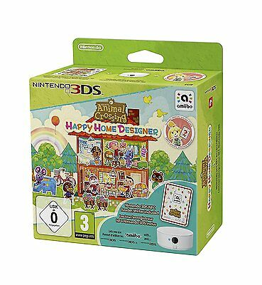 Animal Crossing Happy Home Designer + Lecteur Nfc Jeu 3Ds Neuf