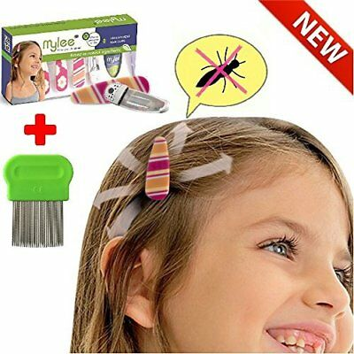 Lice Prevention 4 head Clips, Nit Treatment + Comb,Patented Organic Product,Safe