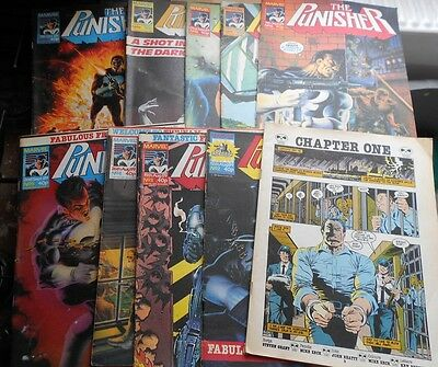 10 x The Punisher comics from 1989 issues 1 thru to 10 - Marvel UK